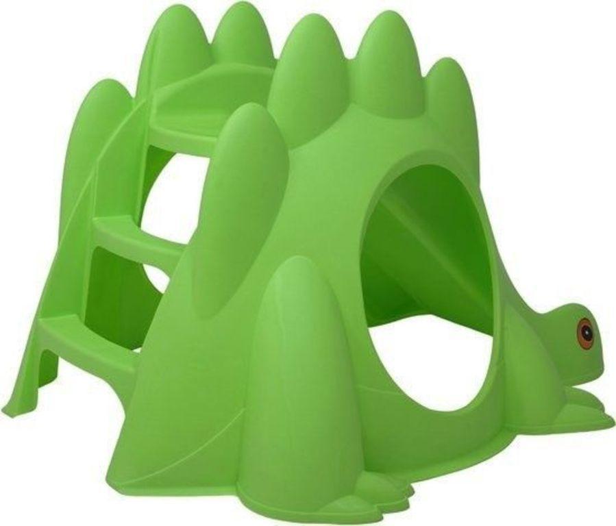 Dětská skluzavka dinosaurus - zelená