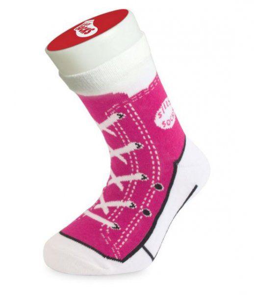 Detské bláznivé ponožky - basket-ružová