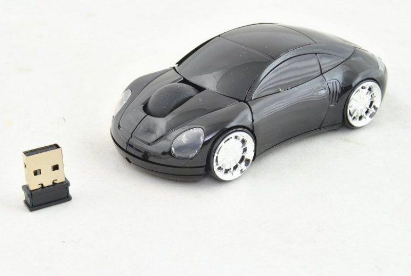 PC myš auto bezdrátová - čierna