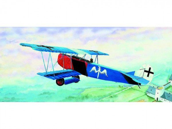 Model Fokker D-VII 15,2x19,3cm v krabici 31x13,5x3,5cm