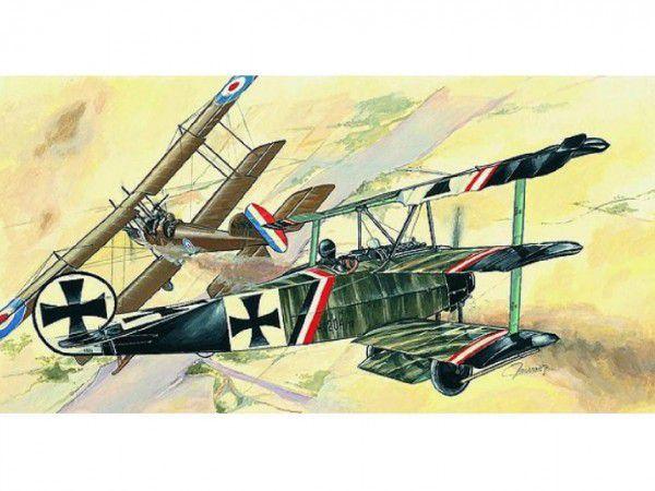Model Fokker Dr.1 13x16,1cm v krabici 31x13,5x3,5cm