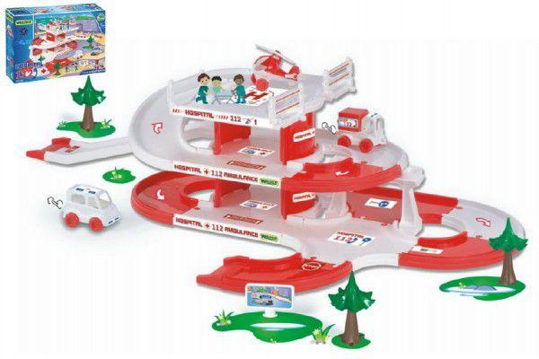 Kid Cars 3D Nemocnice plast 4,8m v krabici 59x40x15cm 12m+ Wader