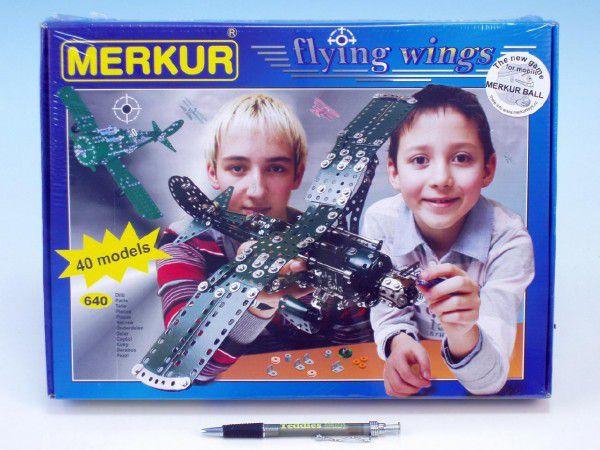 Stavebnice MERKUR Flying wings 40 modelů 640ks v krabici 36x27x5cm