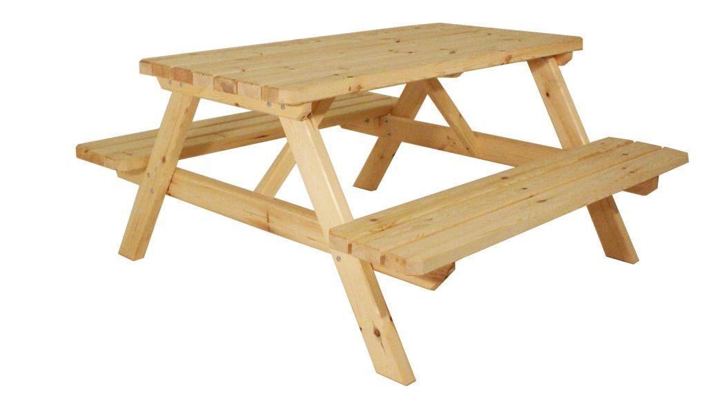 Záhradný set piknik - bez povrchovej úpravy - 150 cm