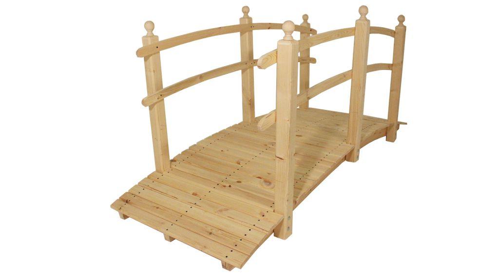 Záhradný drevený most bez povrchovej úpravy - 248 cm