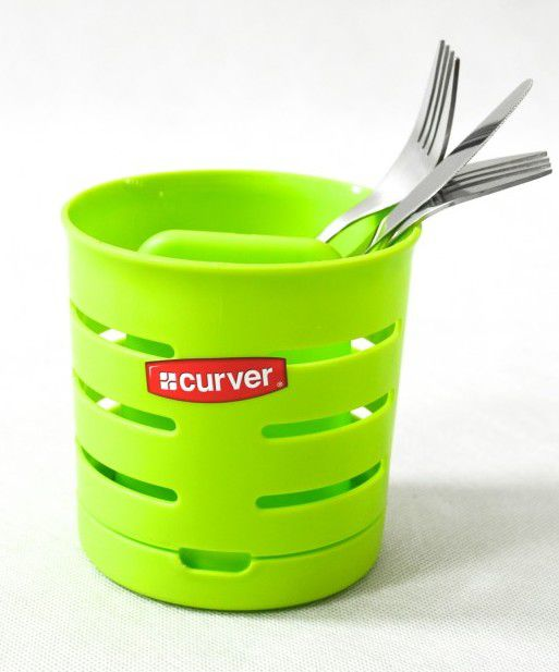 Odkapávač na příbory KULATÝ - zelený CURVER