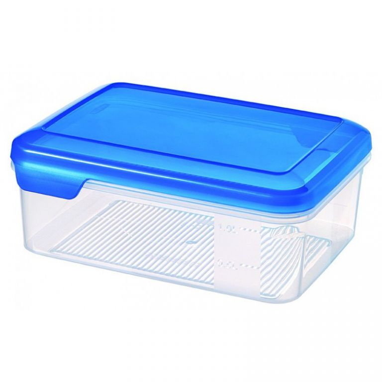 Plastová dóza FLEXI CHEF 1.5L - modré víko CURVER