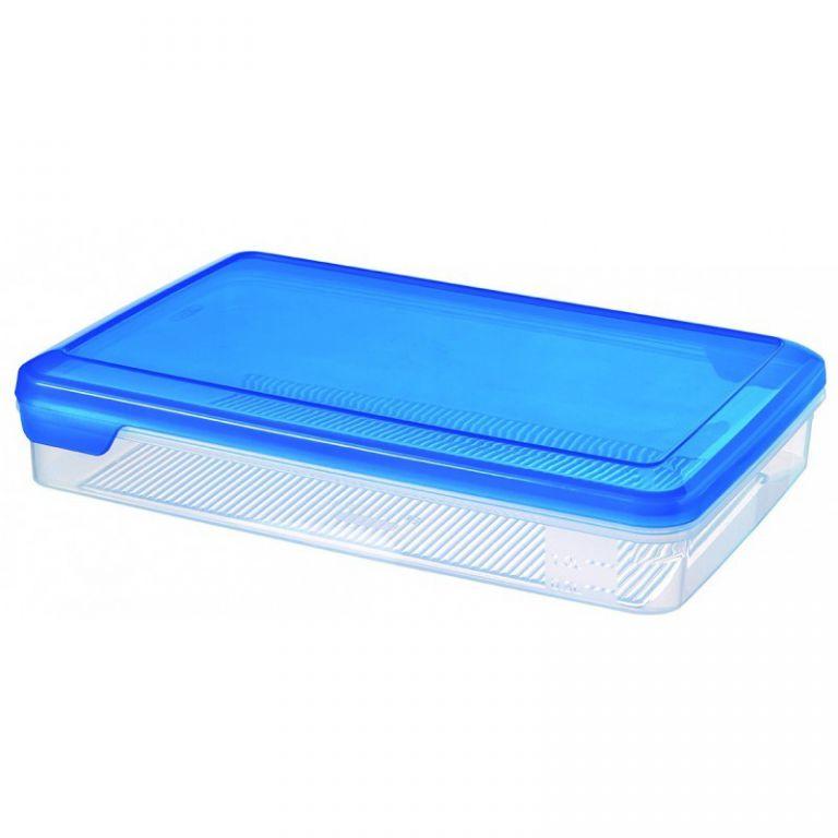 Plastová dóza FLEXI CHEF 2.4L - modré víko CURVER