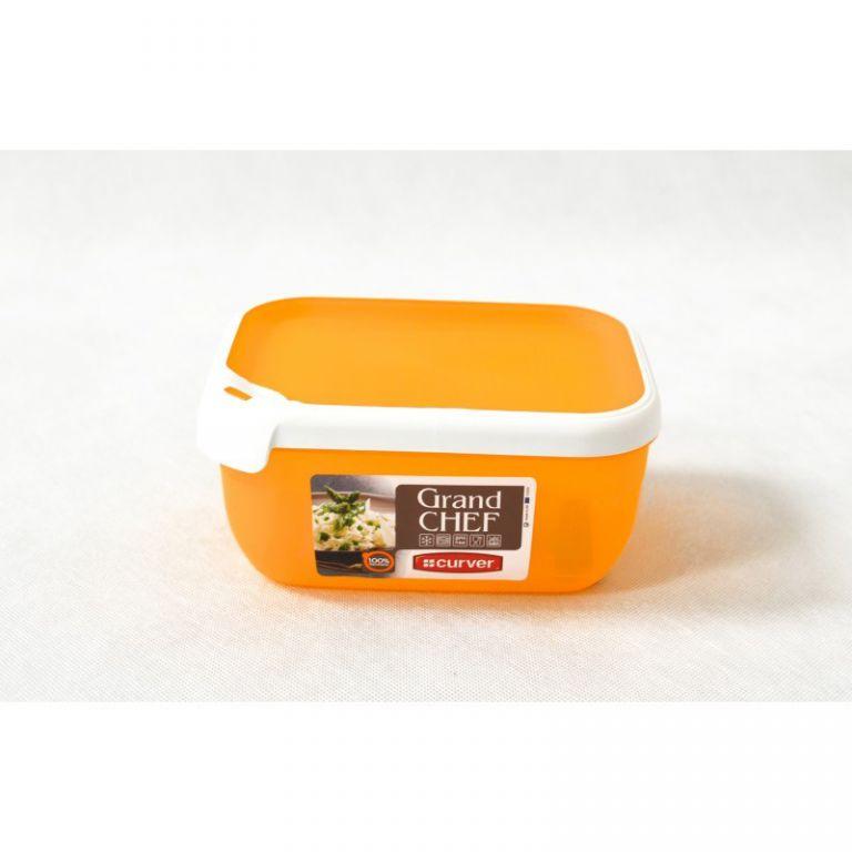 Plastová dóza GRAND CHEF dóza - 1,8 l obdélník - oranžová CURVER