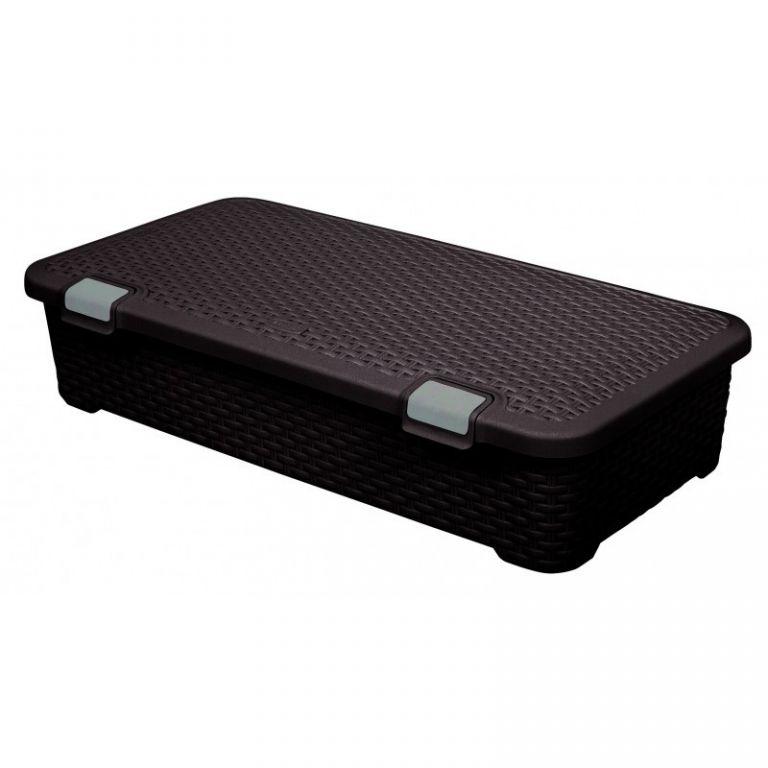 Plastový úložný STYLE BOX - 42L- hnědý  CURVER