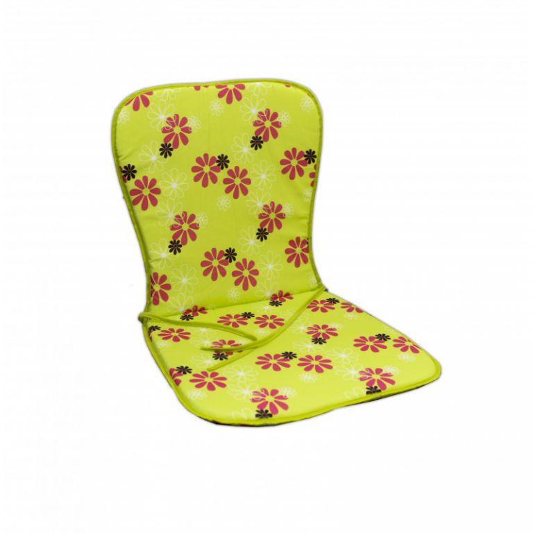 Sedák SAMOA - zelený s kvetmi 30330-220