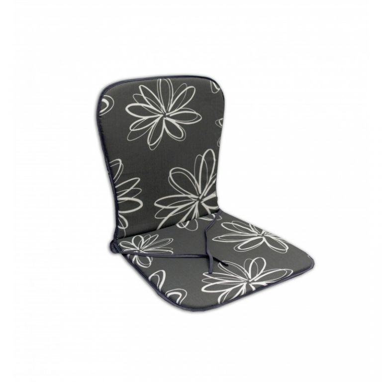 Sedák SAMOA - šedý s kvetmi 30200-700