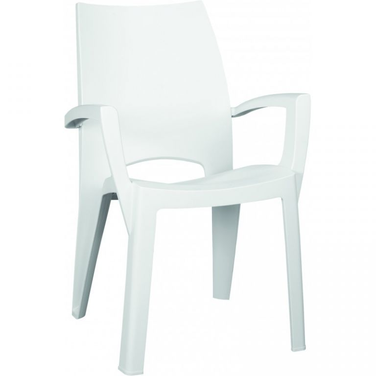 Plastové kreslo SPRING - biele