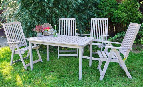 Fotografie Zahradní stůl dřevěný HOLIDAY - šedý